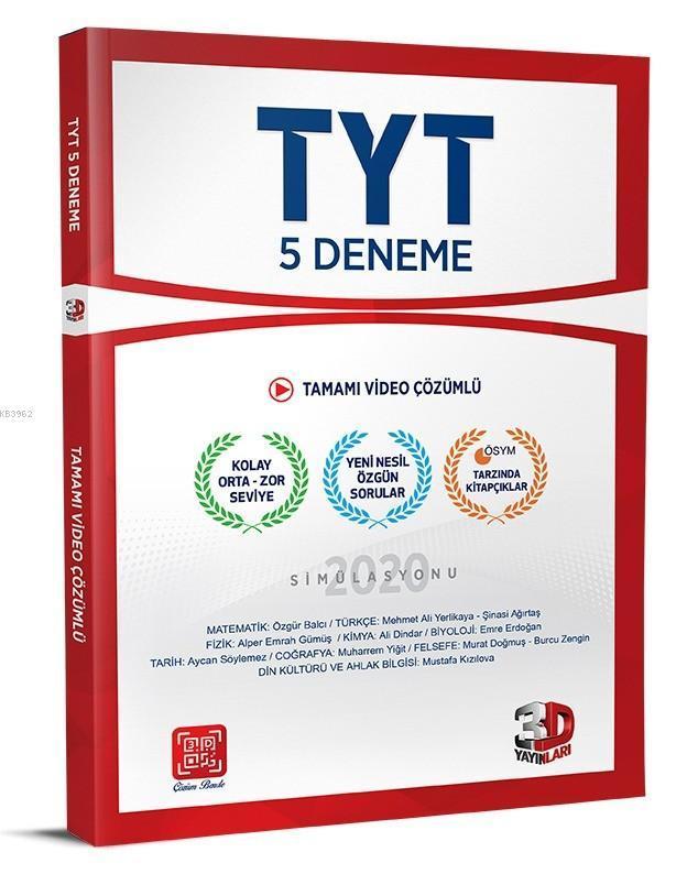 Çözüm Yayınları TYT 5 li Paket Deneme 3D Çözüm