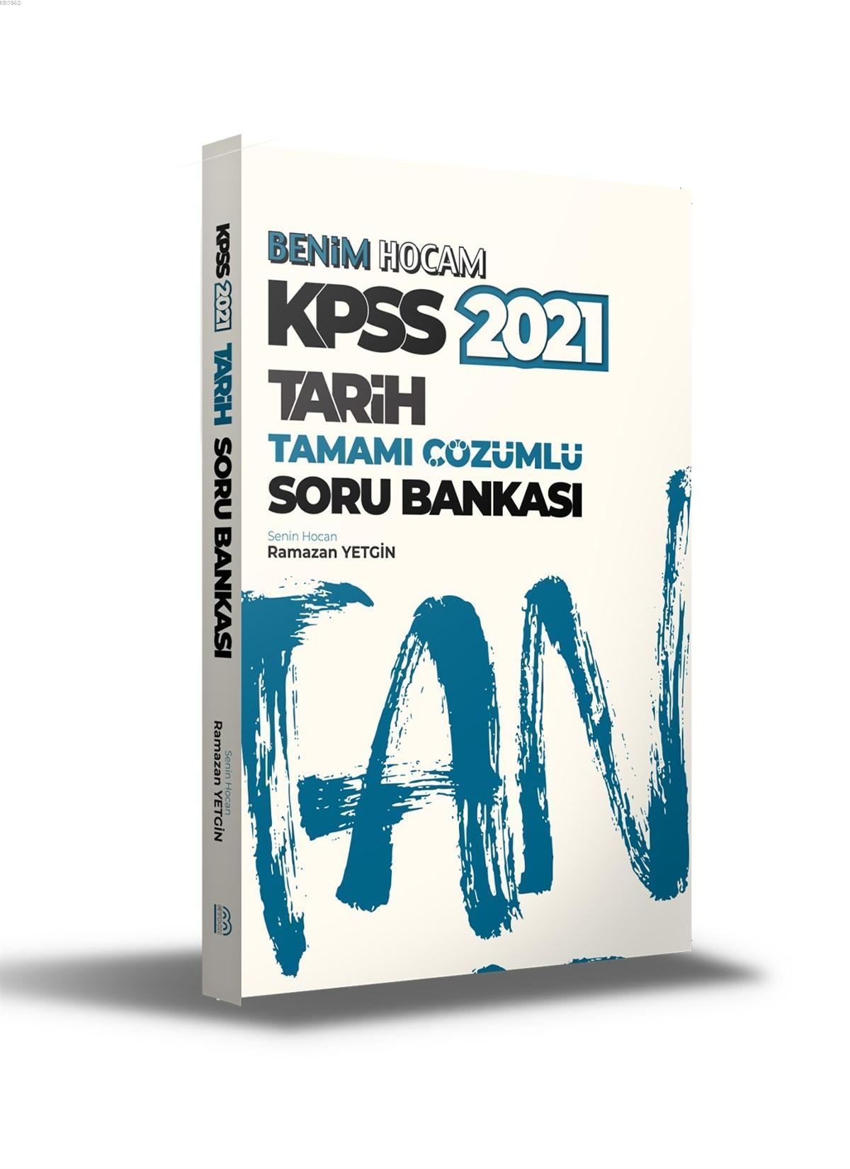 2021 KPSS Tarih Tamamı Çözümlü Soru Bankası Benim Hocam Yayınları