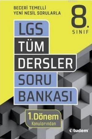 Tudem Yayınları 8. Sınıf 1. Dönem LGS Tüm Dersler Soru Bankası Tudem