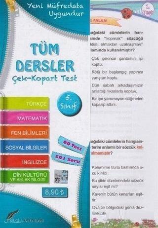 5.Sınıf Tüm Dersler Çek Kopart Yaprak Test