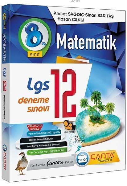 Çanta Yayınları 8. Sınıf LGS Matematik 12 Deneme Sınavı Çanta