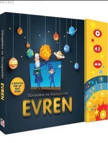 Dünyamız ve Gezegenler Evren (Ciltli); (3 Boyutlu Pop-Up Sesli Elektronik Kitap)