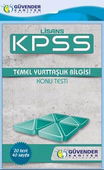 KPSS Lisans Temel Yurttaşlık Bilgisi Konu Testi; 20 Adet Yaprak Test