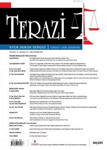 Terazi Aylık Hukuk Dergisi Sayı: 141 Mayıs 2018