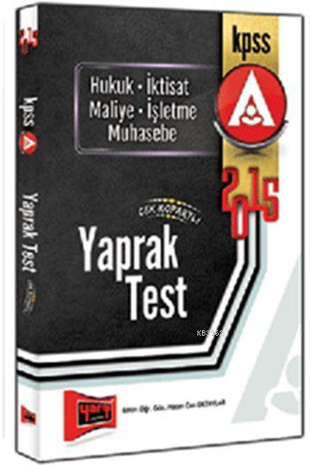KPSS A Grubu Çek Kopar Yaprak Test 2015
