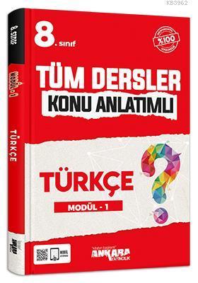 8.Sınıf Tüm Dersler Konu Anlatımlı Türkçe Modül - 1