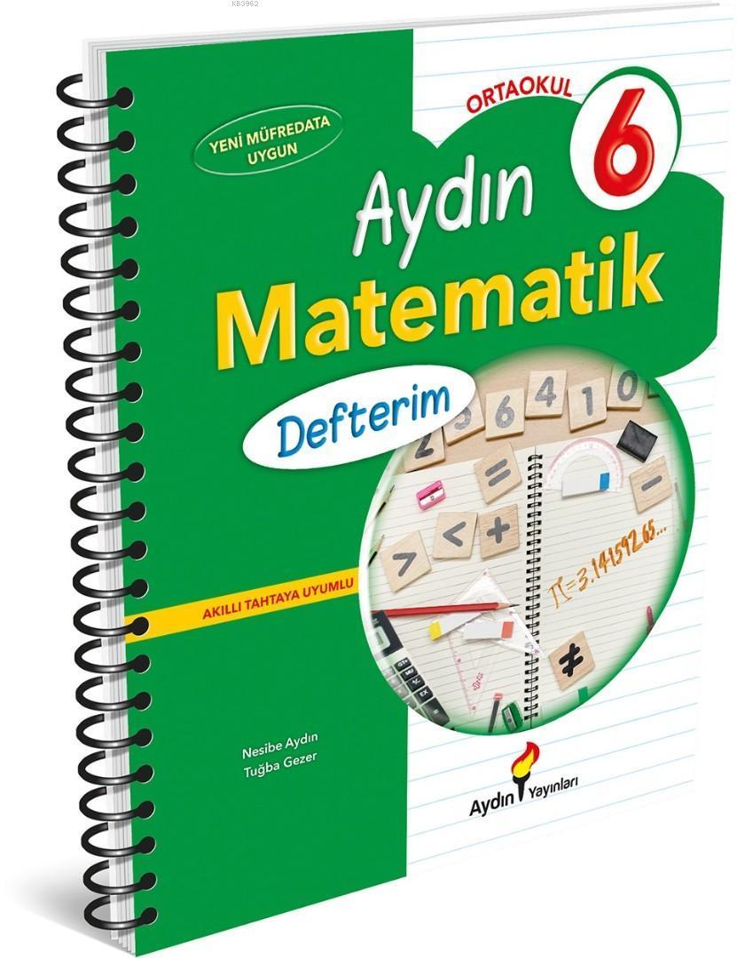 Aydın Yayınları 6. Sınıf Matematik Defterim Aydın