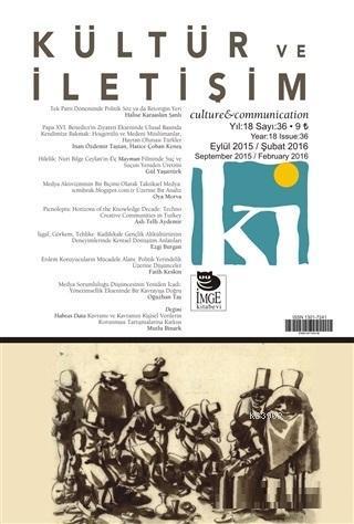 Kültür ve İletişim Dergisi Sayı: 36