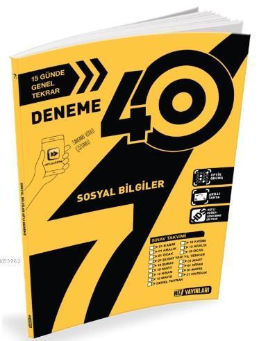 Hız Yayınları 7. Sınıf Sosyal Bilgiler 40 li Deneme