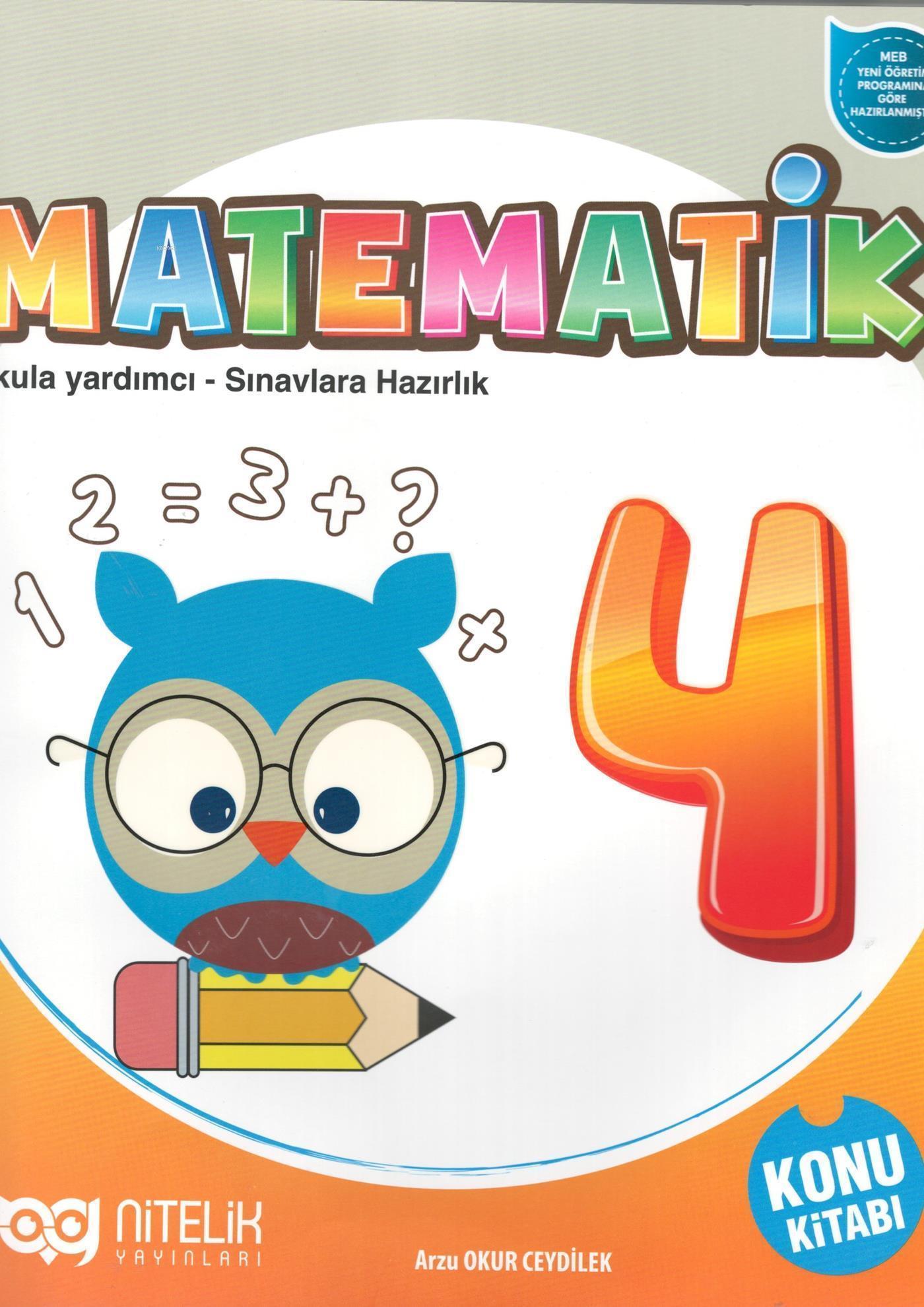 Nitelik Yayınları 4. Sınıf Matematik Konu Kitabı Nitelik