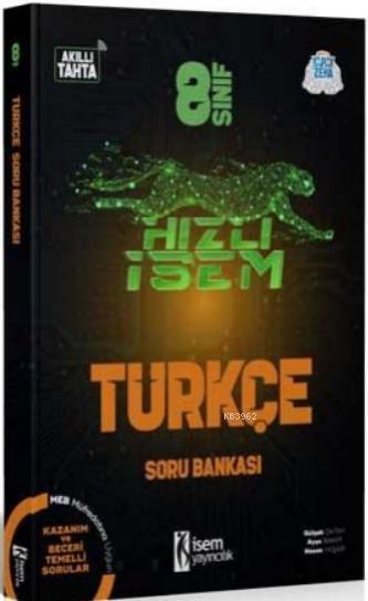 İsem 2021 8.Sınıf Hızlı İsem Türkçe Soru Bankası