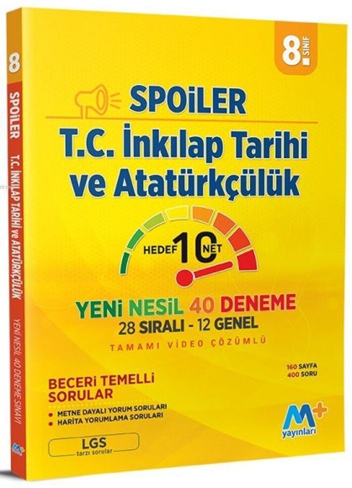 Martı Yayınları 8. Sınıf LGS T.C. İnkılap Tarihi ve Atatürkçülük Spoiler Denemeleri Martı