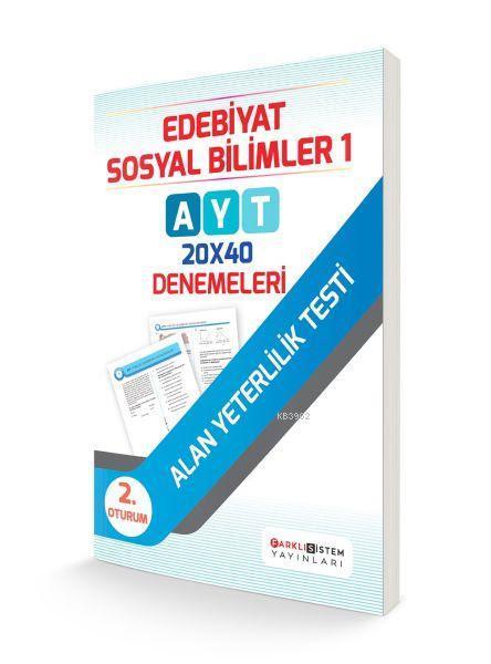 AYT 2. Oturum Edebiyat Sosyal Bilimler 1 - 20x40 Denemeleri