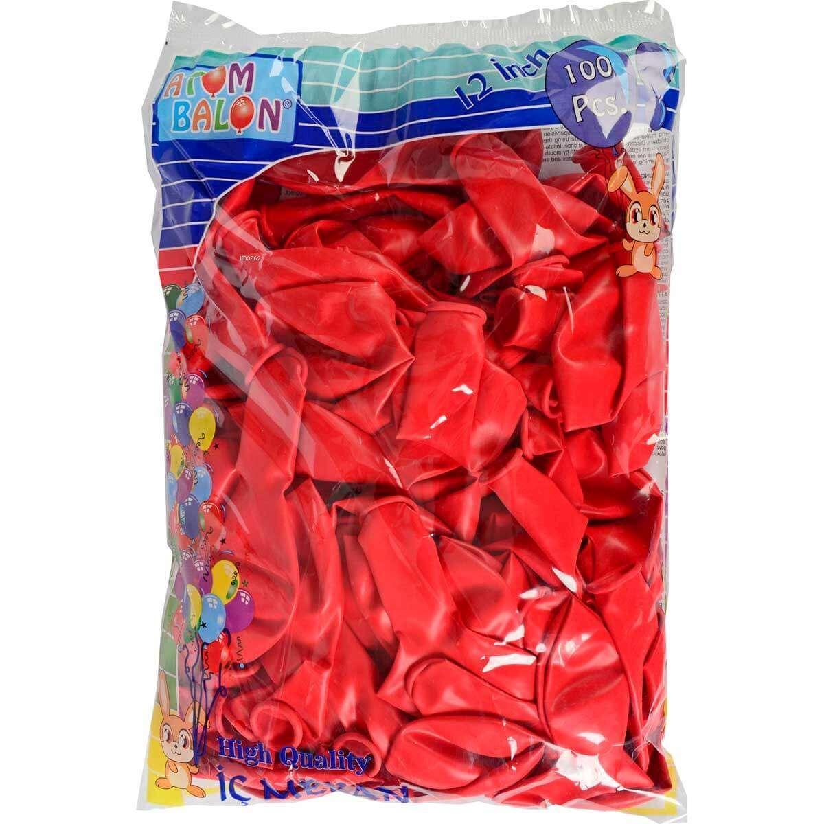 Vatan 904 Kırmızı Dekorasyon Balonu 100'lü