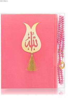 İnci Tesbih Hediyeli Pembe Kur'an'ı Kerîm
