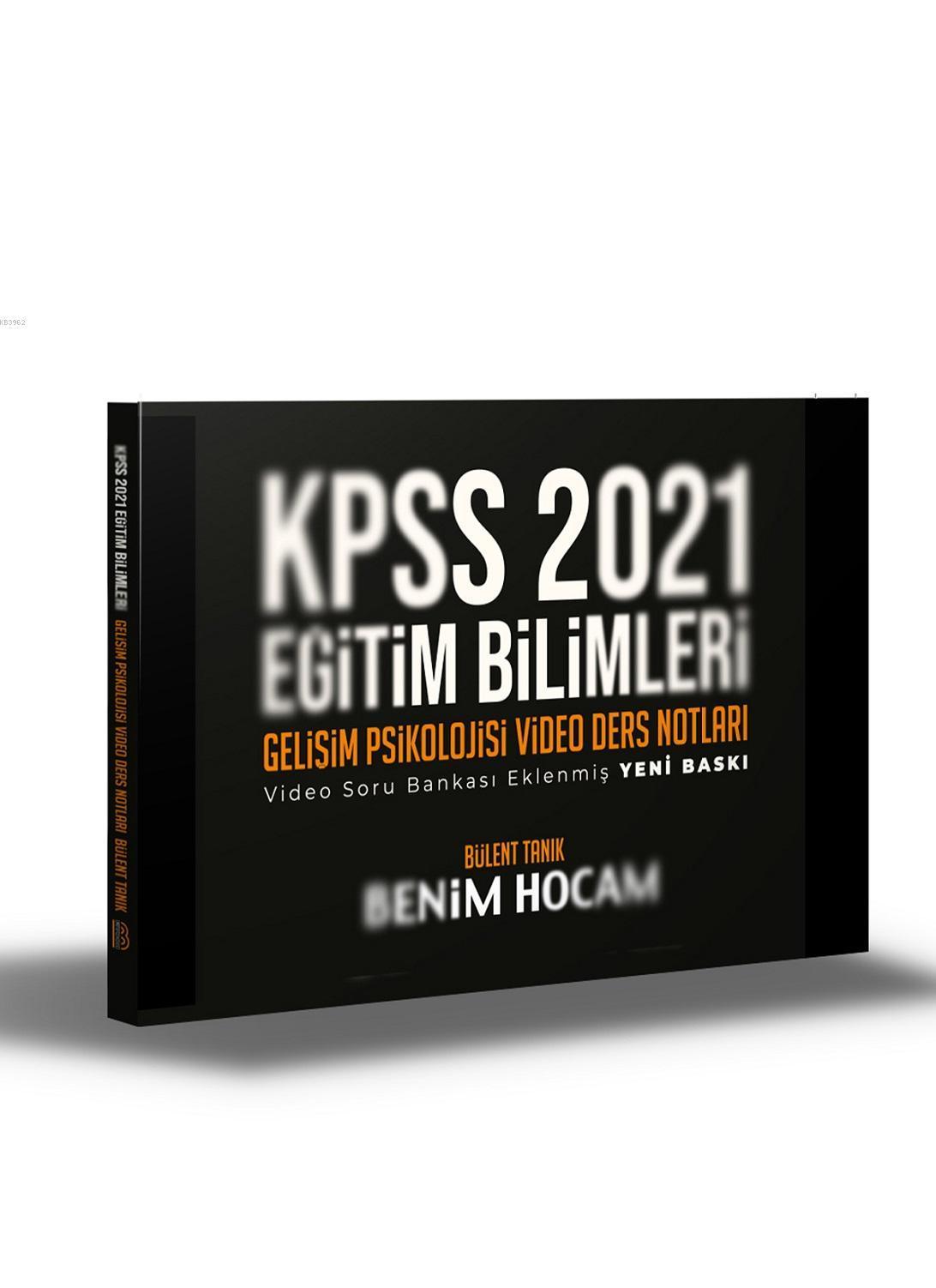 2021 KPSS Eğitim Bilimleri Gelişim Psikolojisi Video Ders Notları Benim Hocam Yayınları