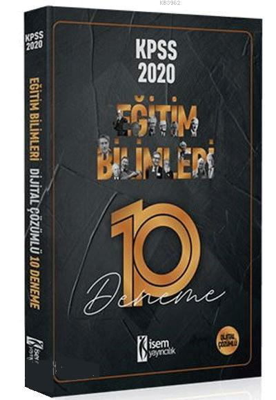 İsem Yayınları 2020 Eğitim Bilimleri Dijital Çözümlü 10 Deneme