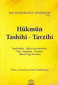 Hükmün Tashihi - Tavzihi