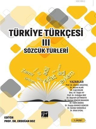 Türkiye Türkçesi 3; Sözcük Türleri