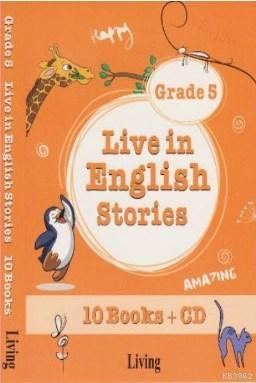 Live in English Stories Grade 5 - 10 Books-CD