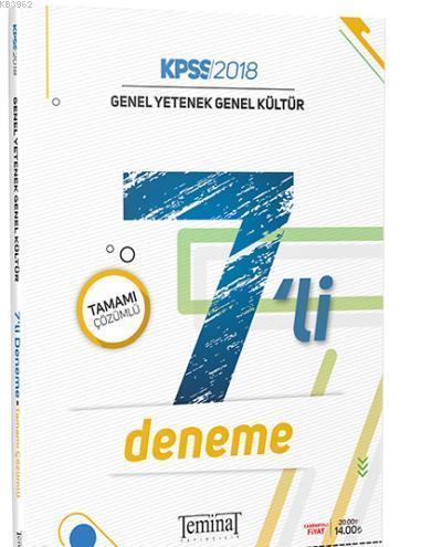 KPSS Genel Yetenek Genel Kültür Tamamı Çözümlü 7li Deneme