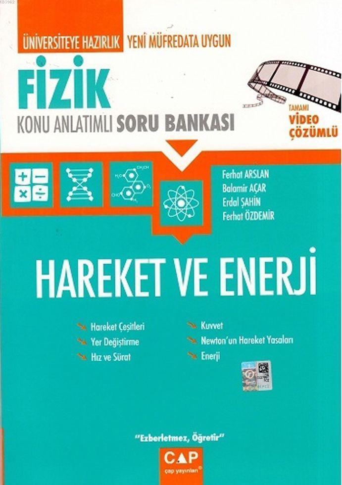 Çap Yayınları Üniversiteye Hazırlık Fizik Hareket ve Enerji Konu Anlatımlı Soru Bankası Çap