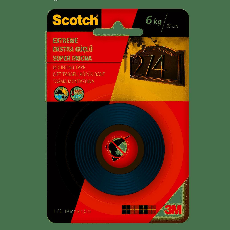 Scotch Çift Tarafli Montaj Bandi Extra 19X1,5 4002