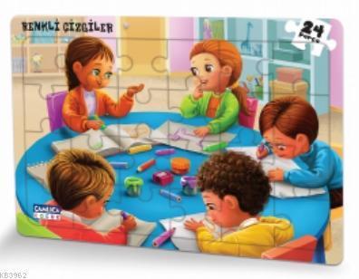 Renkli Çizgiler - (Eğlenceli Puzzle 5)