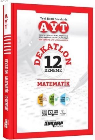 Ankara Yayınları YKS AYT Matematik 12 Deneme Dekatlon Video Çözümlü Ankara