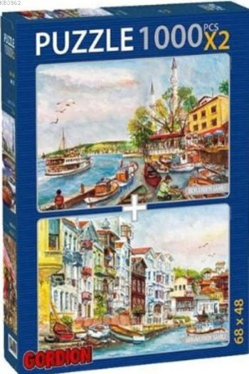 Beylerbeyi Sahili Arnavutköy Sahili Puzzle Takım; 2X1000 Parça