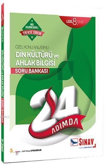 Sınav Dergisi Yayınları 8. Sınıf LGS Din Kültürü ve Ahlak Bilgisi 24 Adımda Özel Konu Anlatımlı Soru Bankası Sınav Dergisi