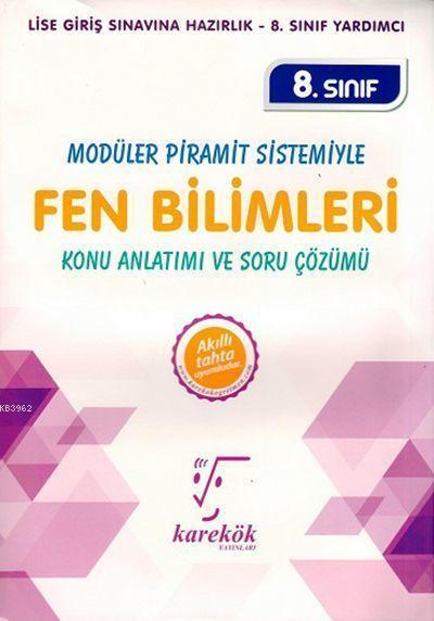 Karekök Yayınları 8. Sınıf LGS Fen Bilimleri Konu Anlatımı ve Soru Çözümü Karekök
