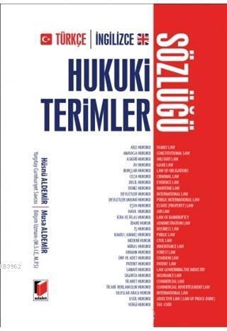 Türkçe-İngilizce Hukuki Terimler Sözlüğü