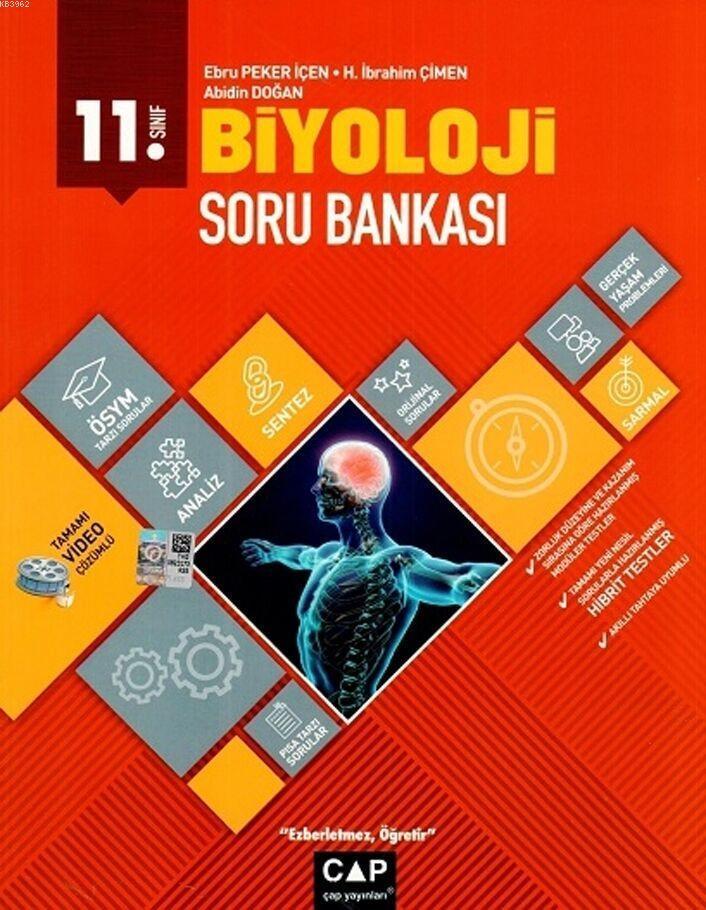 Çap Yayınları 11. Sınıf Anadolu Lisesi Biyoloji Soru Bankası Çap