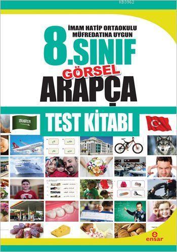 8. Sınıf Görsel Arapça Test Kitabı; İmam Hatip Ortaokulları Müfredatına Uygun
