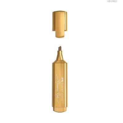 Faber-Castell Fosforlu Kalem 46 Metalik Altın