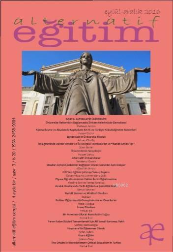 Alternatif Eğitim Dergisi Eylül-Aralık 2016