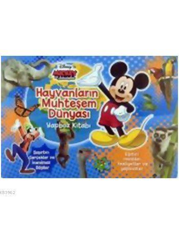 Mickey ve Arkadaşları - Hayvanların Muhteşem Dünyası Yapboz Kitabı (3+ Yaş)