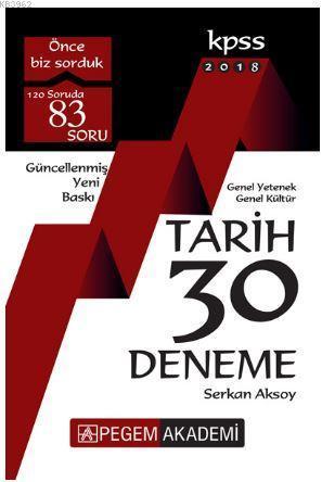 2018 KPSS Genel Yetenek - Genel Kültür Tarih 30 Deneme