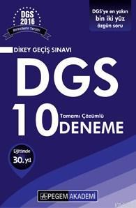 DGS Tamamı Çözümlü 10 Deneme 2016
