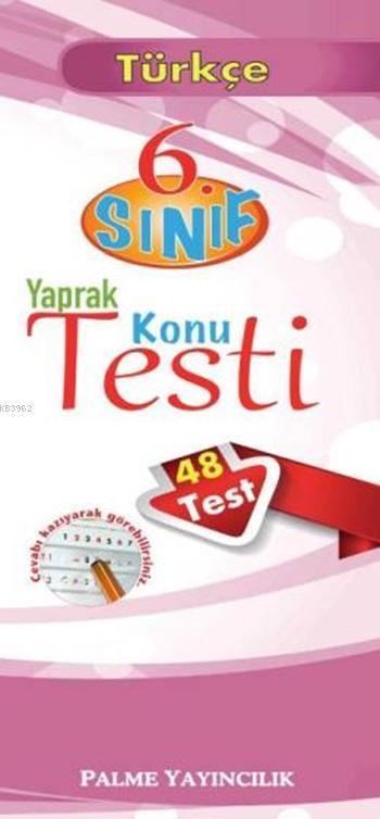 6. Sınıf Yaprak Konu Testi Türkçe