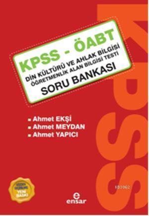 Kpss-Öabt Soru Bankası Din Kültürü ve Ahlak Bilgisi; Öğretmenlik Alan Bilgisi Testi Soru Bankası