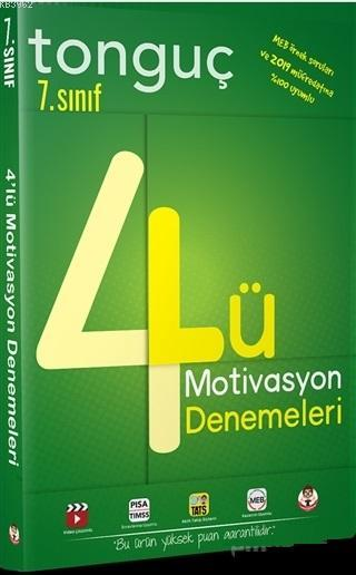 Tonguç Yayınları 7. Sınıf 4 lü Motivasyon Denemeleri Tonguç
