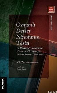 Osmanlı Devlet Nizamının Tesisi