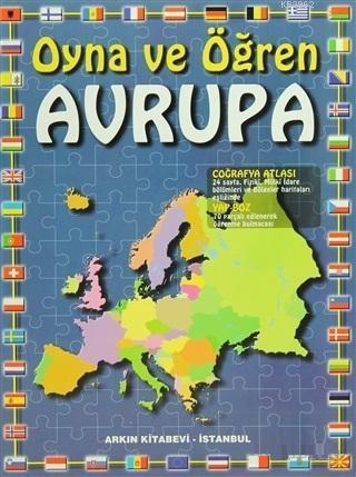 Avrupa Atlası; Oyna ve Öğren, Yapboz Avrupa Haritası Hediyeli
