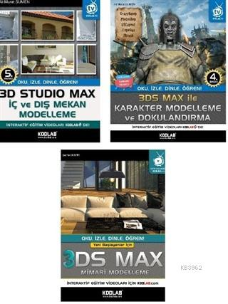 3D Studio Max Eğitim Seti (3 Kitap Takım)