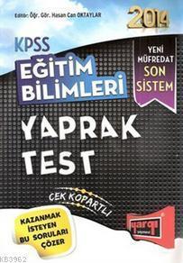 2014 KPSS Eğitim Bilimleri Yaprak Test