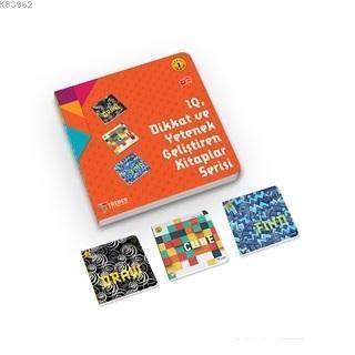 IQ Dikkat ve Yetenek Geliştiren Kitaplar Serisi Level 1 (7-8-9 Yaş) (3 Kitap Takım) - ön kapak IQ