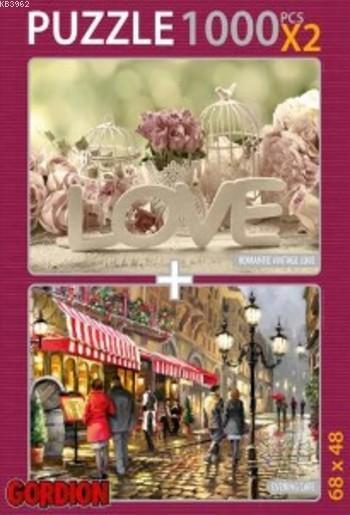 Love Evenıng Cafe; 2X1000 Parça Puzzle Takım