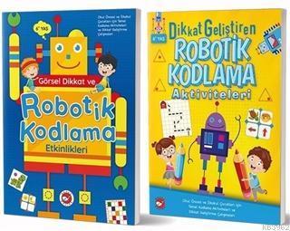 6+ Yaş İçin Temel Robotik Kodlama Aktiviteleri Seti (2 Kitap Takım)